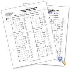 Same Board Pentomino Puzzles - WorksheetWorks.com