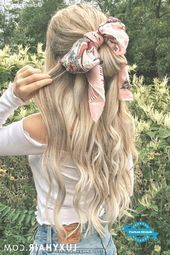 Summer Hairstyles with Headscarves: Alex is wearing her Ash Blonde Luxy Hair Extensions to achieve this volume and length Hairstyles For School, Summer Hairstyles, Braided Hairstyles, Luxy Hair Extensions, Hair Wrap Scarf, Glamorous Hair, Fall Hair Colors, Bandana Hairstyles, Shoulder Length Hair