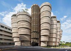 Heatherwick university building completes in Singapore