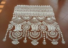 Get the best Kolam Rangoli Designs for Ugadi. We have fresh, new and the latest collection of kolam rangoli designs. Pick simple and easy rangoli designs. Rangoli Border Designs, Colorful Rangoli Designs, Beautiful Rangoli Designs, Kolam Designs, Rangoli Borders, Rangoli Patterns, Rangoli Ideas, Indian Rangoli, Kolam Rangoli