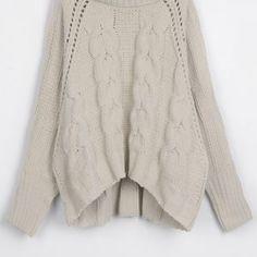 Cupshe Cloud Nine Twist High Low Sweater