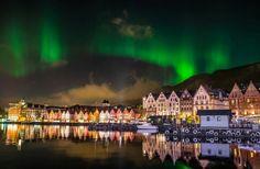 Northern lights over Bergen Norway