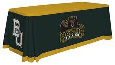 Baylor Bears Table Throw - Design A. Visit SportsFansPlus.com for details.