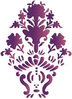 pochoir flower - motif indien