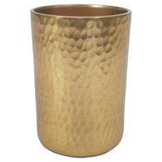 Hammered Pencil Cup Gold - Nate Berkus™ : Target