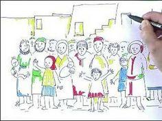 Jesus rencontre Zachée (pour enfants) Zacchaeus, Faith Crafts, Religion, Jesus, Have Time, Map, Sewing, Decor, Bible Crafts