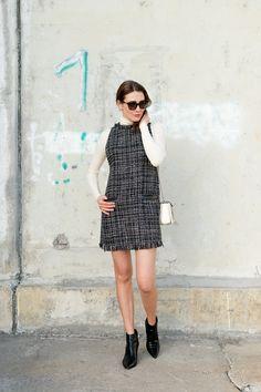 New Outfit: All Tweed | moodforstyle.de - Fashion, Food, Beauty & Lifestyle Blog | Dress: Zara, Longsleeve: Marc O'Polo, Shoes: Kennel & Schmenger, Bag: Zara