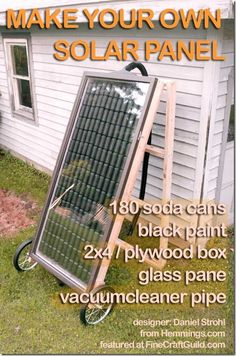 How to make solar panels out of soda cans !!!