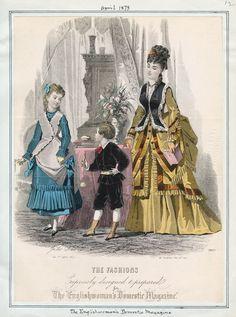 Day Dress, April 1873 (source: Casey Fashion Plates @ LA Public Library)
