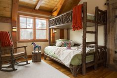 "Bunk beds have long been ""hot items"" at La Lune Collection. And recently some pretty amazing bunk rooms have been popping up everywhere! Rustic Bunk Beds, Rustic Bedrooms, Bunk Bed Rooms, Home Design Magazines, Comfy Bed, Cozy Cabin, Rustic Furniture, House Design, Maine"