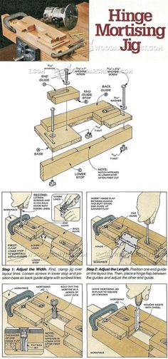 Hinge Mortising Jig Plans - Cabinet Door Construction Techniques | WoodArchivist.com