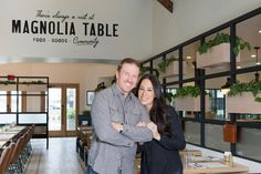 "Chip and Joanna Gaines have opened their new restaurant, Magnolia Table! In ""Fixer Upper"" they take us behind the scenes on how it all came together."