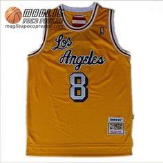 Canotte Nba Latin Notte Swingman Bryant #8 Giallo Los Angeles Lakers €22.9