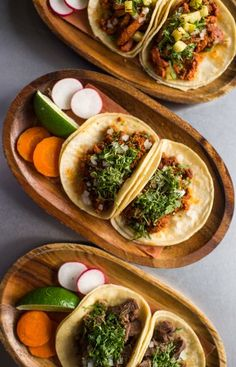 Casa Enrique tacos include al pastor tacos (with agrodolce pineapple), fish tacos (crispy fried bass), and lengua tacos.
