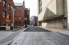 The BAC Geothermal Green Alley, between Boylston Street and Newbury Street. The centerpiece of the BAC's Urban Campus Sustainability Initiative. Learn more at http://the-bac.edu/experience-the-bac/green-alley Photo by Sam Rosenholtz