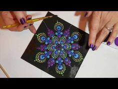 Como pintar mandalas con acrilicos #4 - Pintura de relieve - YouTube