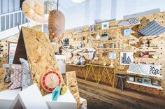 Ongl » HOME BY KIRSTY shop interior : retail design : osb : pegboard : CNC : contemporary design : craftsmanship : digital fabrication : scandinavian style : designer maker : made in britain : made in wales : cardiff