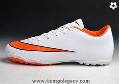 the latest 71757 23823 TF White Orange Nike Mercurial Victory X World Soccer Shop