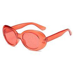 197966e7fdd4 Clear Glitter View Oval Sunglasses Oval Sunglasses