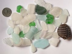 Buy it now on Etsy! Sea Glass Beach Glass Authentic 39 Pcs Mixed by MixedBeadBags