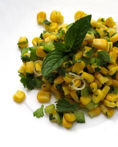 Hunger and Sauce: Sweetcorn and green chilli salad Green Chilli, Sweet Corn, Eat Right, Chili, Salads, Menu, Vegetarian, Healthy Recipes, Dishes