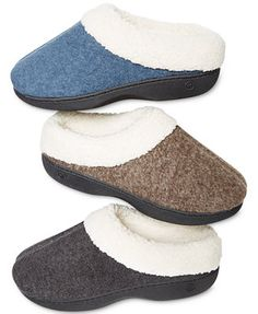 Isotoner Heathered Fleece Hoodback Indoor/Outdoor Slipper