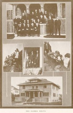 1912-13 Phi Gamma Delta fraternity.  From the 1914 Oregana (UO yearbook).  www.CampusAttic.com