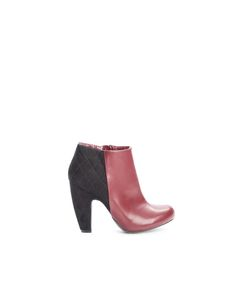 Faux Suede Cone Heel Boot