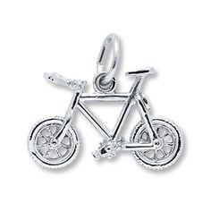 Mountain Bike Charm Sterling Silver