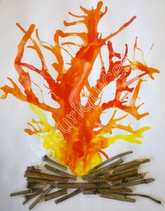 I blew on the fire to kindle the fire !- Soprei no fogo para avivar a fogueira! Mauriquices: I blew on the fire to ignite the bonfire ! Autumn Crafts, Fall Crafts For Kids, Diy For Kids, Holiday Crafts, Camping Theme, Camping Crafts, Fireman Crafts, Safety Crafts, Fire Art