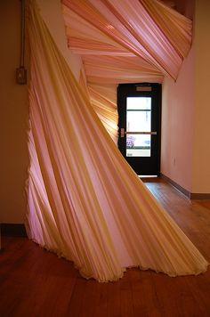 Fabric Installation @ Des Lee Gallery by carlietrosclair, via Flickr