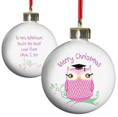 Merry Christmas Owl Tree Decoration £9.99