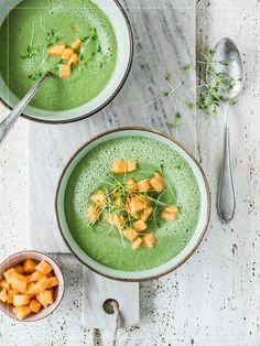 Gurke-Matcha-Suppe Butter, Matcha, Avocado Toast, Drink, Dinner, Breakfast, Healthy, Food, Recipes