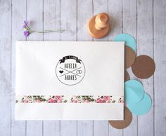 A cualquier otra parte  wedding stamp. Names and by QuilezStamps