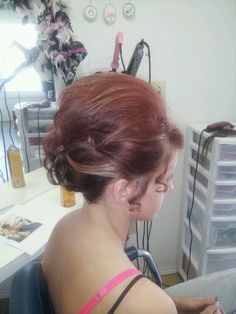 Side view prom hair