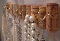 great way to get lots of hooks without putting lots of holes in the wall!  #cork #wine #DIY