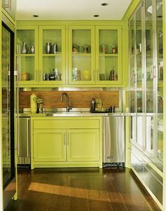 #chartreuse #green #Classic #Kitchen #Cabinetry