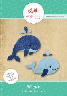 whale applique pattern