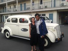 The Legend Charley Pride gets an airport transfer from Hooters in our 1937 Dodge D5! What an honour! :-) www.hooters-hire.co.nz
