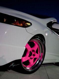 I love these Pink Car Rims sports cars cars sport cars cars vs lamborghini Sexy Cars, Hot Cars, My Dream Car, Dream Cars, Dream Life, Rims For Cars, Car Rims, Pink Wheels, Hot Wheels