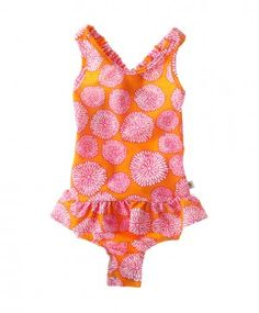 Snapping Turtle Kids - Capri Ruffle Swimsuit (has snaps to change a diaper)
