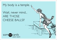 Oh My Freaking Stars!: Temples & Cheese Balls