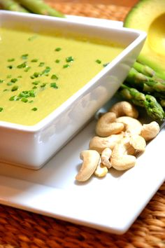 Diary Free Creamy Avocado Soup; love how this recipe calls for green tea!