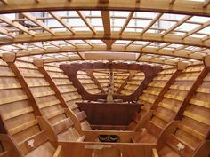 joineries inside a custom boat, boyne city, michigan