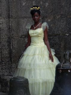 lovely bride in Havana, Cuba    A bride being pictured at Plaza de San Francisco, Havana, Cuba