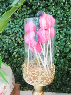 Vivienne's Tropical Pink Flamingo Themed Party – Birthday Edible Flowers, Pink Flowers, Vanilla Macarons, Two Tier Cake, Different Shades Of Pink, Painted Leaves, Tropical Fruits, Shaped Cookie, Paper Lanterns