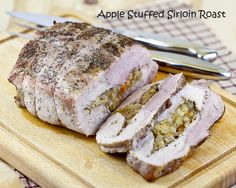 Apple Stuffed Sirloin Roast