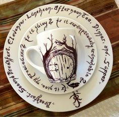 Hobbit Sharpie DIY Dishes
