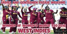 #WT20 #WorldT20 #ICCT20WC #WIvsAUS #AUSvsWI #WestIndies Cricket Trolls  Congratulations Women's West Indies Cricket Team for a  fabulous win in the final    http://www.crickettrolls.com/2016/04/03/west-indies-women-lift-world-t20-2016-defeating-australia-by-8-wickets-in-the-final/