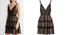 Olive Tiered Lace Mini Dress, £621   Alice